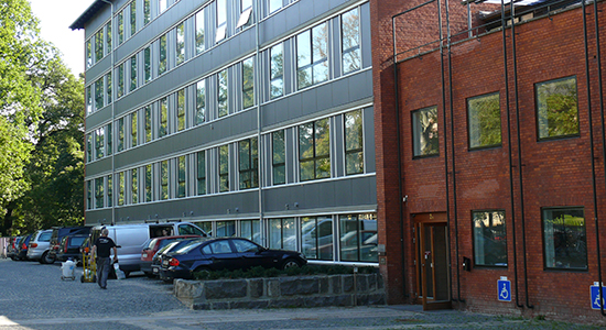 Entrance to the Department of Psyhology, Øster Farimagsgade 2A